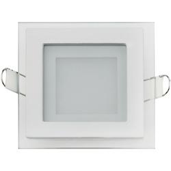 Встраиваемый потолочный светильник 6W 3000К Белый (HL684LG)