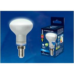 LED-R50-6W/NW/E14/FR PLS02WH Лампа светодиодная. Форма «Рефлектор», матовая. Серия Sky. Белый свет.