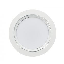 ULM-Q235 24W/DW WHITE Светильник светодиодный встраиваемый. Дневной свет. Корпус белый с серебристой полосой.