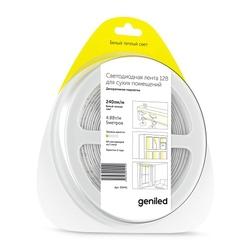Светодиодная лента Geniled GL-60SMD3528 12В 240лм/м 4,8Вт/м 8х5000 2700-3000 IP33