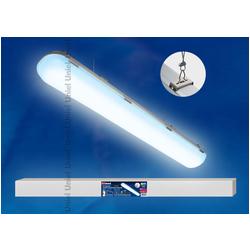 ULT-V16-60W/DW/HM IP65 SILVER Светильник светодиодный линейный подвесной пылевлагозащищенный «Ангилья». Мощность 60 Вт. Световой поток 5600 Лм. Цвет свечения — дневной белый. Степень защиты IP65. Материал корпуса- алюминий. Цвет корпуса- серебряный.