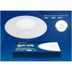 ULT-T10B-20W/WW+NW+DW WHITE Светильник светодиодный накладной Triplewhite. 3000/4000/6500К. О340мм. Корпус белый
