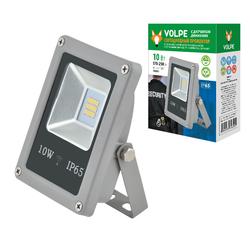 ULF-Q510 10W/NW SENSOR IP65 170-250B SILVER Светодиодный прожектор 10 Вт с датчиком движения и освещенности. Белый свет.