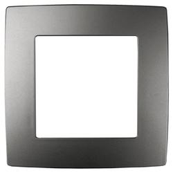 Рамка на 1 пост, графит, 12-5001-12