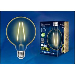 LED-G80-4W/GOLDEN/E27 GLV21GO Лампа светодиодная Vintage. Форма «шар», золотистая колба.