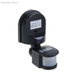 Датчик движения инфракрасный ДД-008-B 1200Вт 180гр. 12м IP44 черный