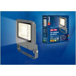 ULF-F17-50W/WW IP65 195-240В SILVER Светодиодный прожектор 50 Вт Теплый белый свет.