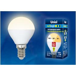 LED-G45-6W/NW/E14/FR/MB Лампа светодиодная. Форма шар, матовая. Серия Multibright. Белый свет