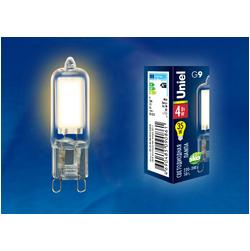 LED-JCD-4W/WW/G9/CL GLZ01TR Лампа светодиодная, прозрачная. Теплый белый свет (3000К).