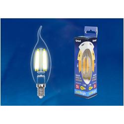 LED-CW35-5W/WW/E14/CL/MB GLM10TR Лампа светодиодная. Форма «свеча на ветру», прозрачная. Серия Multibright. Теплый белый свет (3000K). 100-50-10.