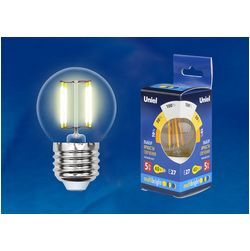 LED-G45-5W/WW/E27/CL/MB GLM10TR Лампа светодиодная. Форма «шар», прозрачная. Серия Multibright. Теплый белый свет (3000K). 100-50-10.