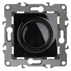 Светорегулятор поворотно-нажимной, 400ВА 230В, чёрный, 12-4101-06