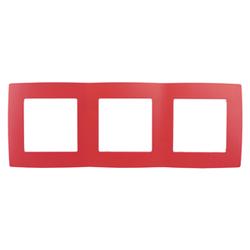 Рамка на 3 поста, красный, 12-5003-23