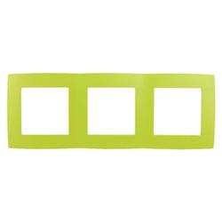 Рамка на 3 поста, лайм, 12-5003-26