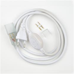UCX-SP2/N21 WHITE 1 STICKER Провод электрический для светодиодных лент ULS-N21 NEON 220В, 8x16мм, 2 контакта. Цвет белый.