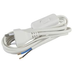 Шнур для бра BR2(W)  2x0.75мм2 1,8м c выключателем, белый