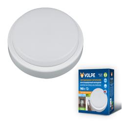 ULW-Q211 12W/NW SENSOR IP65 WHITE Светильник светодиодный влагозащищенный, с микроволновым датчиком движения. Круг. Белый свет (4500K). 960Лм. Диаметр 16 см. Корпус белый.