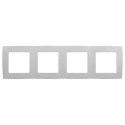 Рамка на 4 поста, белый, 12-5004-01