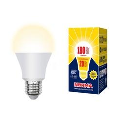 LED-A65-20W/WW/E27/FR/NR Лампа светодиодная. Форма A, матовая. Серия Norma. Теплый белый свет (3000K)