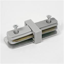 HOROZ 096-001-0001 Соединитель шинопровода прямой однофазный max 16A Серебро