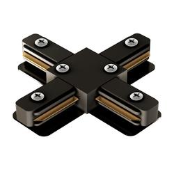 Соединитель X Geniled для однофазного шинопровода Чёрный