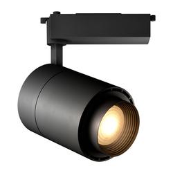 Трековый светильник Geniled Track Classic Zoom 40Вт 4700K Чёрный с адаптером для однофазного шинопровода