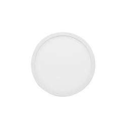 06-37 Светодиодная панель накладная круглая 220В, 15Вт, CRI:80Ra, 1200Лм, Ф145мм,  алюминиевый корпус, встроенный изолированный драйвер, 2700К