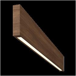 Светильник Wooden 20 из массива (орех американский), 800*100 мм, 3000К, 8Вт, W20-OREHAM-80-10