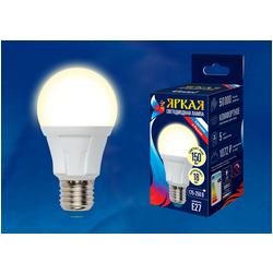 LED-A60 18W/3000K/E27/FR PLP01WH Лампа светодиодная. Форма «А», матовая. Серия Яркая. Теплый белый свет (3000K).