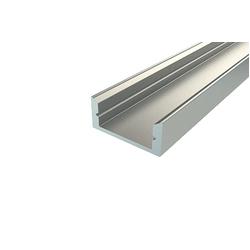 Накладной алюминиевый светодиодный профиль для ленты LC-LP-0716-2 Anod