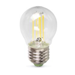 Лампа светодиодная LED-ШАР-PREMIUM 5Вт 160-260В Е27 3000К 450Лм прозрачная. Теплый белый